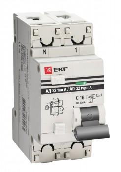 АД-32 1P N 32А-30мА (тип А) EKF PROxima-2