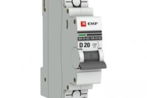 Автоматический выключатель 1P 20А (D) 4,5kA ВА 47-63 EKF PROxima