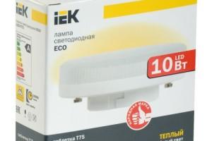 Лампа светодиодная ECO T75 таблетка 10Вт 230В 3000К GX53 IEK