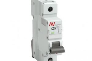 Выключатель автоматический AV-6 1P 25A (C) 6kA EKF AVERES